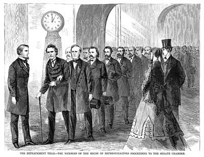 Johnson Impeachment, 1868 Print by Granger