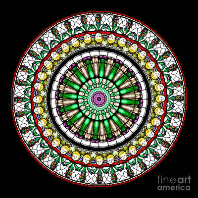 Mandala Photograph - Kaleidoscope Stained Glass Window Series by Amy Cicconi