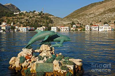 Dolphins Painting - Kastelorizo Island by George Atsametakis