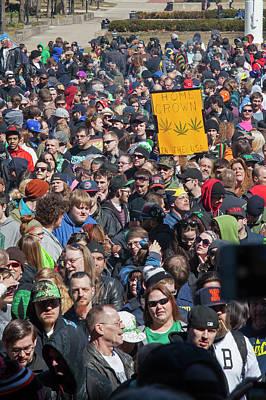 University Of Michigan Photograph - Legalisation Of Marijuana Rally by Jim West