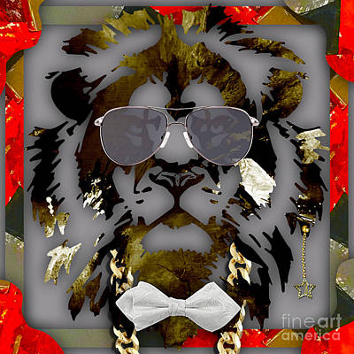 Lion Mixed Media - Lion Collection by Marvin Blaine