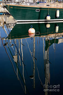 Yachts Photograph - Reflections In Mikrolimano Port by George Atsametakis