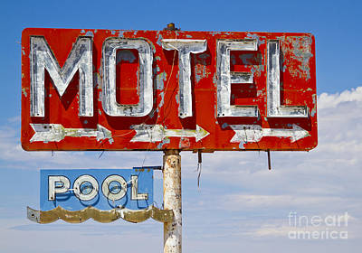 Lodes Photograph - Route 66 Highway Signs Motels Gas Stations And Art Deco Architec by ELITE IMAGE photography By Chad McDermott