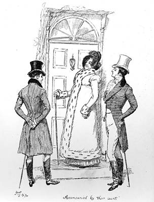 Cousins Drawing - Scene From Pride And Prejudice By Jane Austen by Hugh Thomson