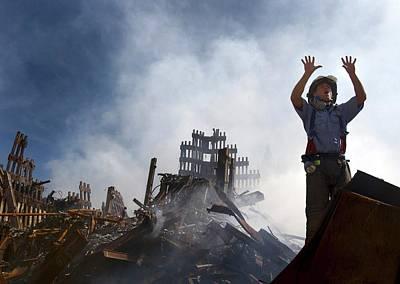Terrorism Photograph - 11 September Aftermath by Us Navy/preston Keres
