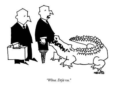 Alligator Drawing - Untitled by Ariel Molvig