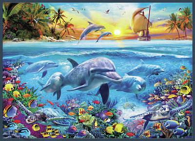 Dolphin Drawing - Untitled by Jan Patrik Krasny