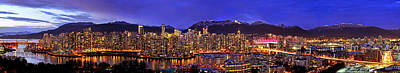 Vancouver Skyline Panorama Original by Wesley Allen Shaw