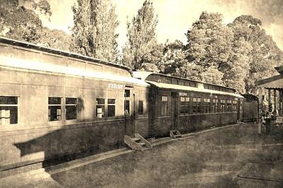 Vintage Photograph - Vintage Train by Andrew Hunt