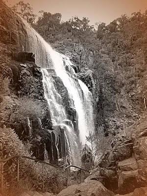Tree Photograph - Waterfalls by Girish J
