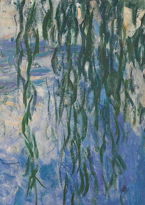 Abstrait Painting - Waterlilies by Claude Monet