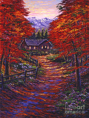 Maple Tree Painting - 1133 Friendly House by David Lloyd Glover