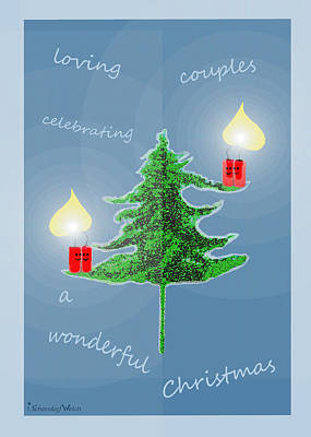 Christmas Cards Digital Art - 1153 - Christmas Card by Irmgard Schoendorf Welch