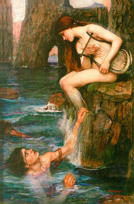 The Siren Print by John Waterhouse