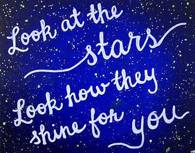 Coldplay Painting - 11x14 Look At The Stars by Michelle Eshleman
