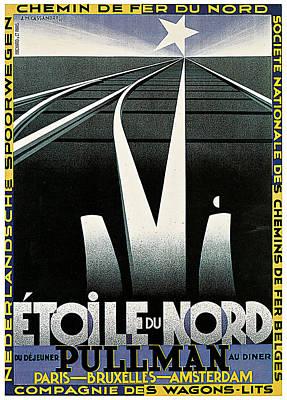 Bruxelles Painting - Etoile Du Nord Train by A M Cassandre