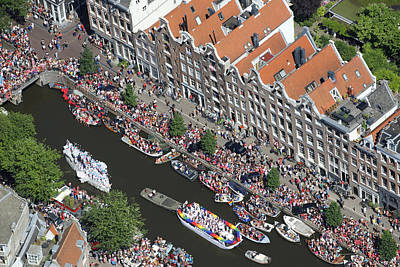 Human Being Photograph - Amsterdam Gay Pride Canal Parade 2013 by Bram van de Biezen