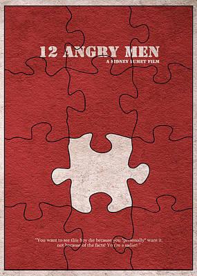 12 Angry Men Print by Ayse Deniz