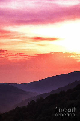 Beautiful Vistas Digital Art - Appalachian Sunset by Thomas R Fletcher