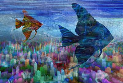 Curves Digital Art - Beneath The Waves Series by Jack Zulli