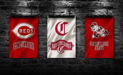 Cincinnati Reds Print by Joe Hamilton
