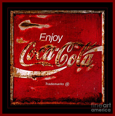 Coca Cola Classic Vintage Rusty Sign Print by John Stephens