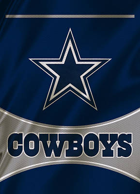 Dallas Cowboys Uniform Print by Joe Hamilton