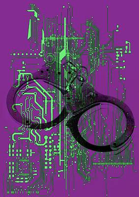Data Security Print by Victor Habbick Visions