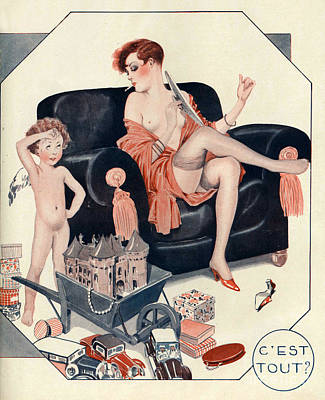 La Vie Parisienne 1927 1920s France Cc Print by The Advertising Archives