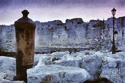 Castle Painting - Methoni Castle by George Atsametakis