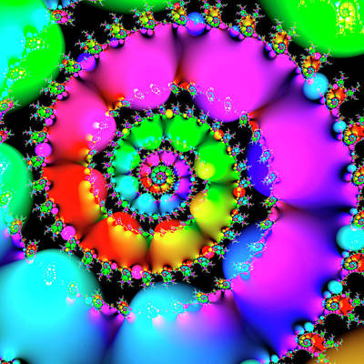 Psychedelic Photograph - Multicolour Abstract Pattern by Mehau Kulyk