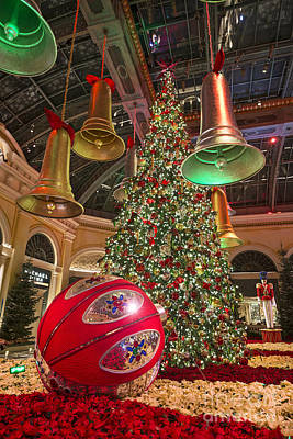 The Magical Holiday Seasonal Display At The Bellagio Conservator Print by Jamie Pham
