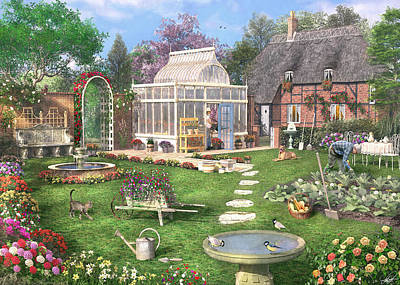 Shed Photograph - The Cottage Garden by Dominic Davison