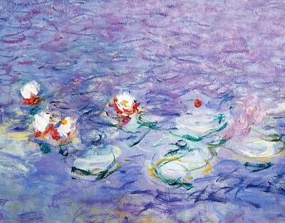 Mauve Painting - Water Lilies by Claude Monet