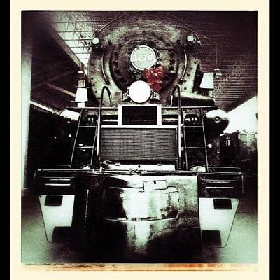 Train Photograph - 1218 Locomotive At The Virginia Museum by Teresa Mucha