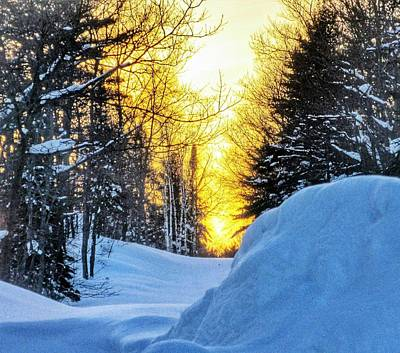 Snow Forts Photograph - Trail's End Sunset by Scott Wendt Tom Wierciak