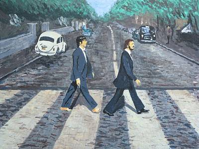 Abbey Road Painting - #13-47 Two Of Us by Dane Tate