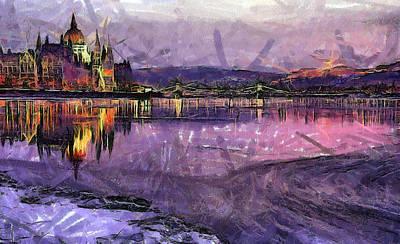 Budapest By Night Print by Odon Czintos