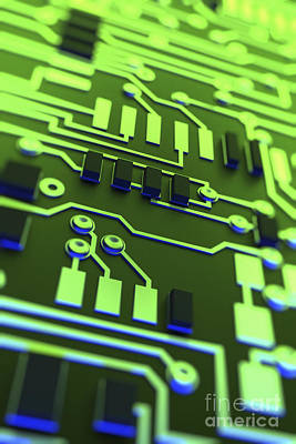 Circuit Board Print by Science Picture Co
