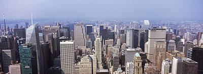 Empire State Photograph - High Angle View Of Buildings In A City by Panoramic Images