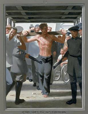 Via Dolorosa Painting - 13. Jesus Goes To His Execution / From The Passion Of Christ - A Gay Vision by Douglas Blanchard