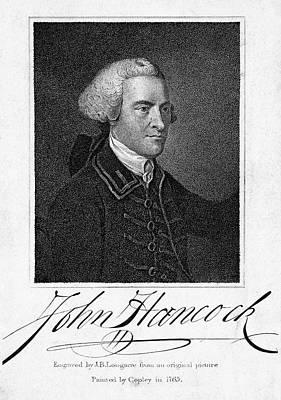 Barton Painting - John Hancock (1737-1793) by Granger