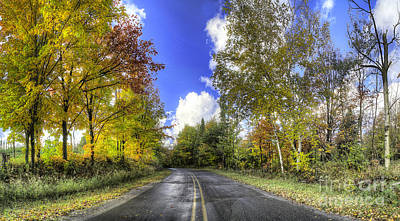 Backroad Photograph - 13 Mile Road In Pierport In Fall by Twenty Two North Photography