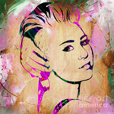 Ball Mixed Media - Miley Cyrus Collection by Marvin Blaine