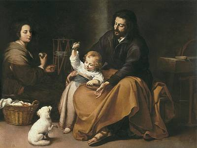 Holy Family Photograph - Murillo, Bartolom� Esteban 1617-1682 by Everett