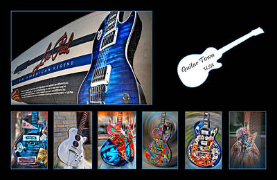 Epiphone Guitar Photograph - Rock N Roll Collection by Deborah Klubertanz