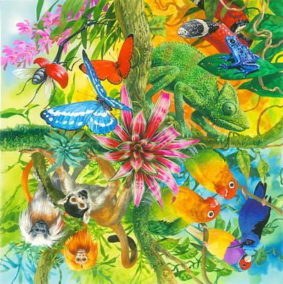 Fauna Painting - Wonders Of Nature by John Francis