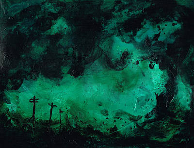 Abstract Painting - 130430 - Storm 2  by Paul Maguire