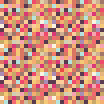 Pixel Art Print by Mike Taylor