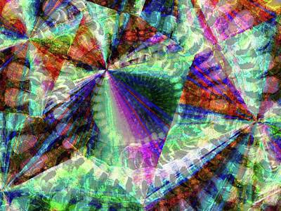 Merged Photograph - Abstract Polarised Light Micrograph by Steve Lowry
